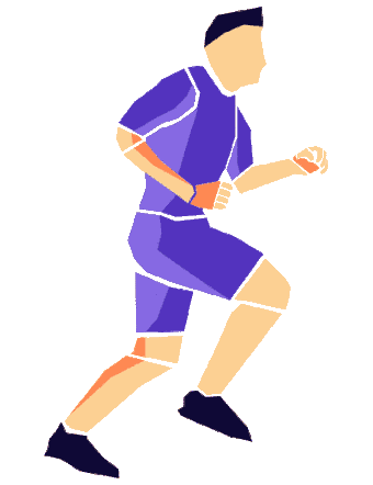 Vector animated GIF of running man